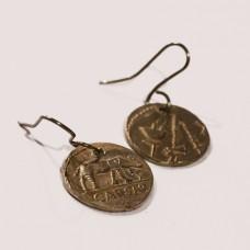 auskari ar monētām
